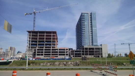 The coming-soon Twelfth & Demonbreun property (left) and The existing Twelve/Twelve condos (right) in downtown.