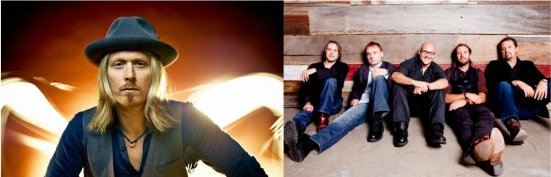 Left: Country artist Kenny Foster. Right: Rock band Sister Hazel.