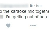Breaking: Woman Going To Karaoke Stage Appears To Be Bringing Backup Singers